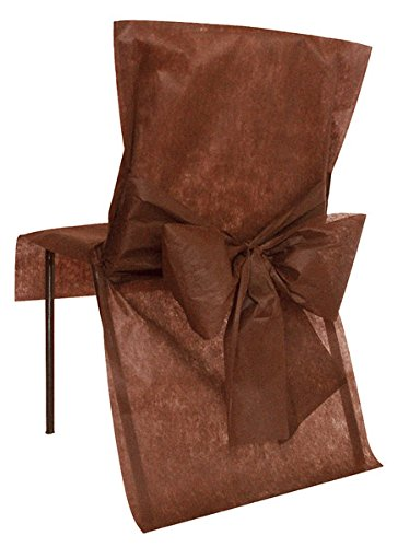 10 Housses de chaise Chocolat - taille - Taille Unique - 212664