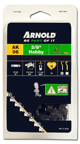 Arnold Sägekette 3/8 Zoll Hobby, 1.3 mm, 56 Treibglieder, 40 cm Schwert 1191-X1-0016
