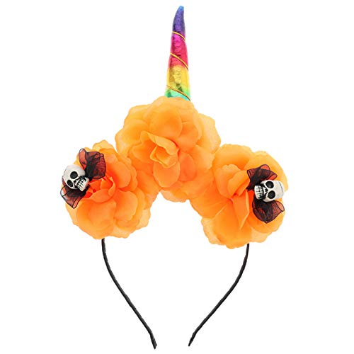 Xinleijd dankbaar 2019 Nieuwe Halloween Party Hoofdband Eenhoorn Schedel Hoofd Haarband Party Fancy Jurk voor Home Decoratie