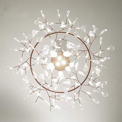 HLL Candelabro, candelabro LED Firefly Sputnik, iluminación colgante nórdica moderna para dormitorio, luz colgante de sala de estar contemporánea ajustable, luz de techo interior de rama/lámpara de