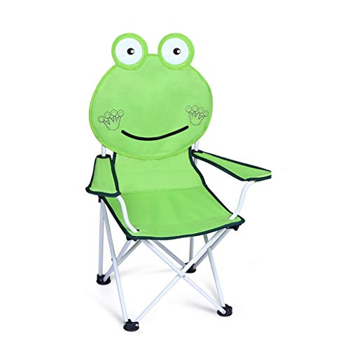 JIAX Kinderstoel, gemakkelijk te openen, draagbaar antislip, gemakkelijk te reinigen, draagtas, met armleuningen, vouwbare strandstoel geschikt voor kinderen