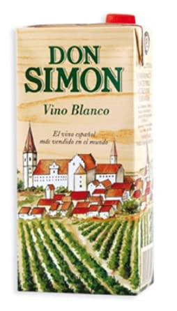 Vino Blanco Don Simón Brick - 1 Lt - 12 Und