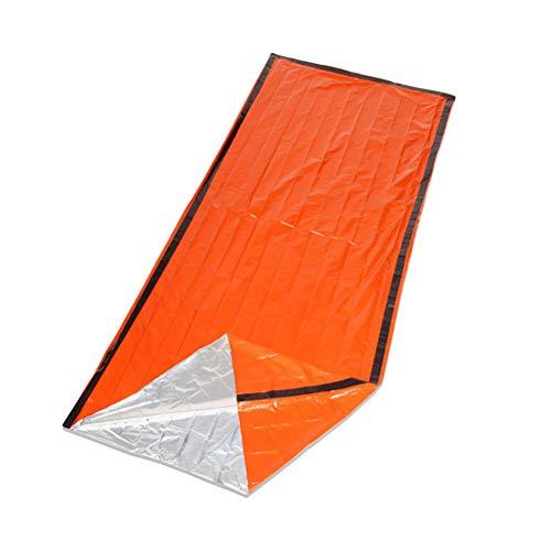 LIOOBO Notfall Erste Hilfe Schlafsack PE Aluminium Film Zelt feuchtigkeitsbeständige Matte für Outdoor Camping Wandern mit Aufbewahrungstasche Pfeife