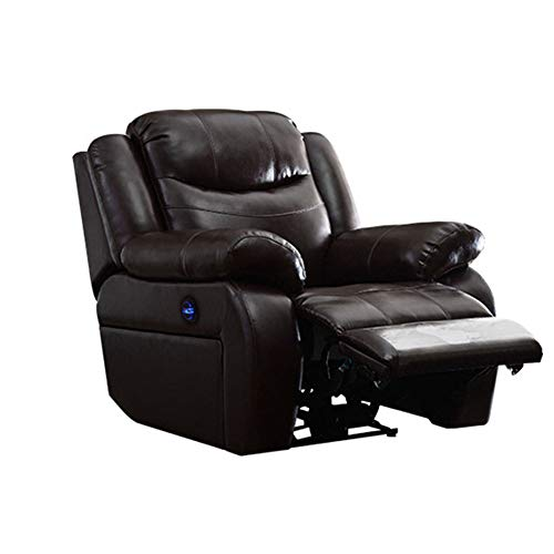 NBVCX Furniture Component Royal Electric Recliner Armchair Power Lift Chair Sofa With Massage Heat And Vibration Pu Leather Lounge Home Riser Chair For Elderly With Cup Holders