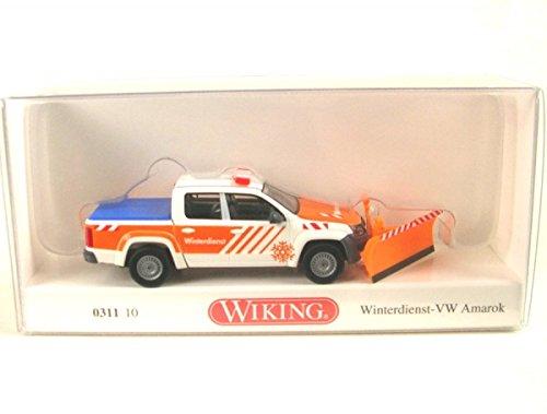 VW Amarok Chasse neige - voiture miniature, Miniature déjà montée - Wiking 1:87