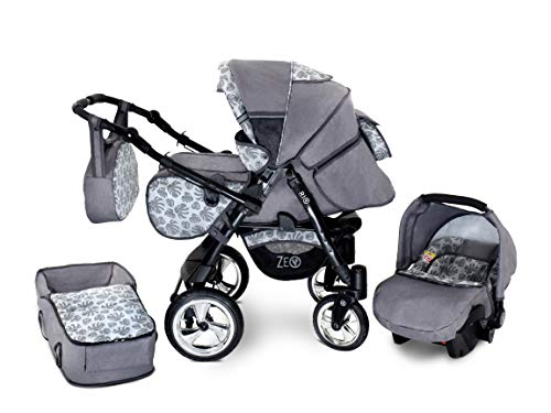 Baby Pram Zeo Rio 3in1 Set - Alles wat je nodig hebt! carrycot Gondola Buggy Autostoel R6