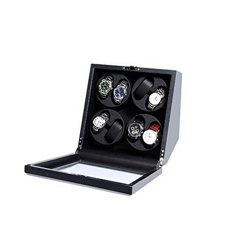 ZhenHe A prueba de polvo automático enrollador de relojes con motor japonés Mabuchi caja de exhibición caja de caja de reloj automático enrollador 8 relojes hombres regalos
