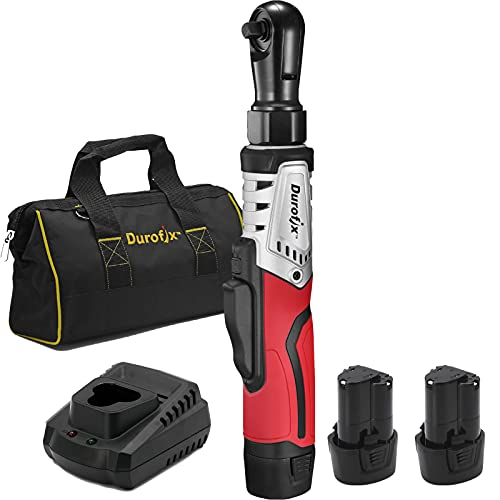 """Durofix RW1210-32 G12 Series 12V Cordless Li-ion 3/8"""" 65 ft-lbs. Brushless Ratchet Wrench Tool Kit with 2 Batteries and Canvas Bag"""