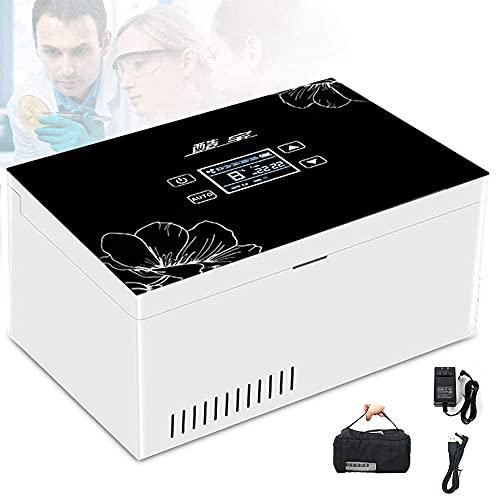 LIMEID Insulin kühler A Tragbare Insulin Kühlbox für Medikamente Mini Intelligente Elektrische Kühlschrank Kühltasche Thermostat unter2° C- 25 ° C mit für Reise&Haushalt Insulin Reefer,3*Battery
