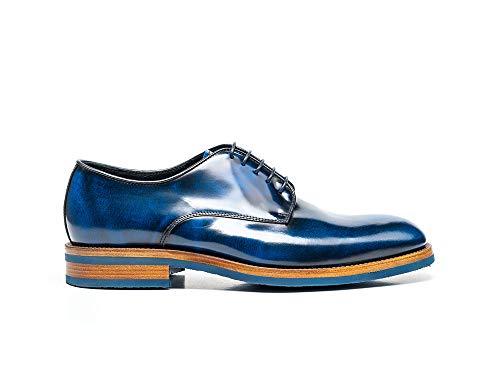 DIS Pertini blauw – handgemaakte schoenen, design Italian Shoes