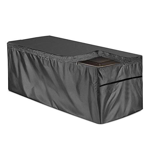 STTC Funda Protectora para Deck Box, 210D Oxford Impermeable a Prueba de Polvo Anti-UV Protección Exterior Cubierta de Muebles de Mesas,Negro,130x60x71cm