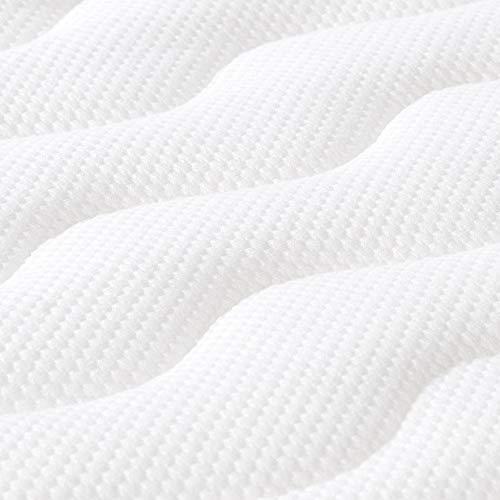 Amazon Basics - Cubrecolchón de espuma con memoria confortable , 7 cm - 150 x 200 cm