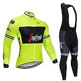 Abbigliamento Ciclismo Set Uomini Traspirante Asciugatura Veloce Confortevole Maglia Manica Lunga Camicia da Ciclismo con i Pantaloni in Gel Set Abbigliamento da Ciclismo per MTB