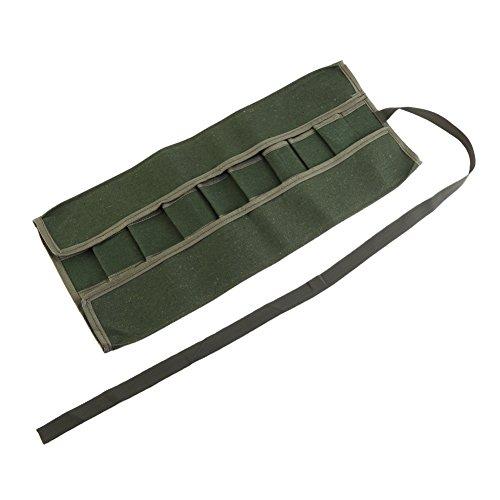Bolsa enrollable para llave inglesa, mango portátil de lona para herramientas de jardín, bolsa de almacenamiento multifuncional, paquete de herramientas, estuche con ruedas