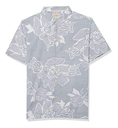 Quiksilver Herren Woven Hemd, Dusty Blue Hatch Rose, Mittel