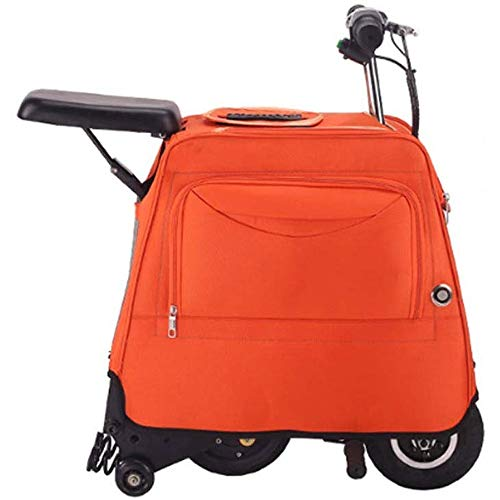Buy Cheap WSJTT Electric Scooter Luggage Rolling Suitcase Business Trolley Electric Travel Carry Lug...