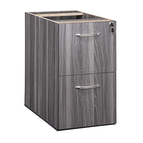 """Mayline Aberdeen 26""""D Pedestal FF for use with Desk, sold separately, Gray Steel Tf"""