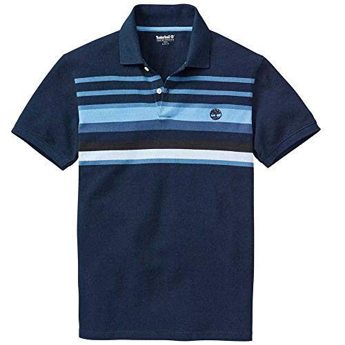 Photo of Timberland – Mill River Block Stripes – Polo Shirt – Navy (XX-Large)