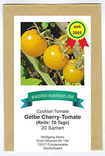 gelbe Cherry-Tomate - auch für Balkon/Terrasse - 20 Samen