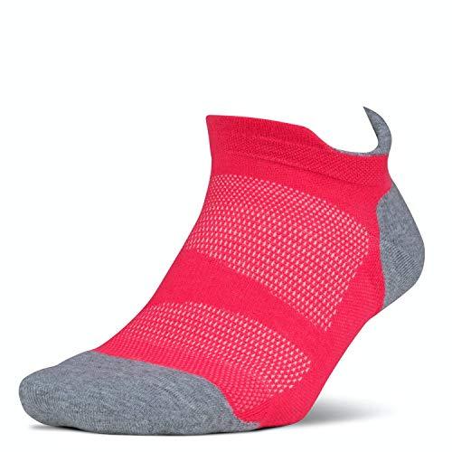 Feetures! @ WOWOOO Calzini da Corsa – Elite Max Cushion – No Show Tab, FE-122059, Corallo, S UK: 2-4,5