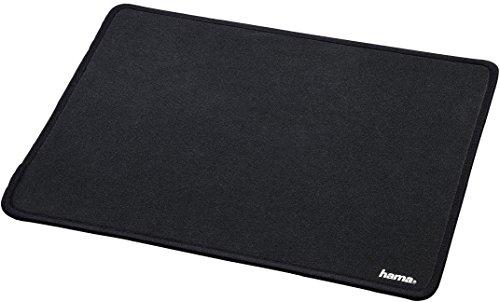 Hama Mauspad XXL Comfort (DIN A4, 31 x 21cm, Office Mauspad mit Stoffoberfläche, optimale Gleitfähigkeit für optische Maus, rutschfeste Unterseite) schwarz
