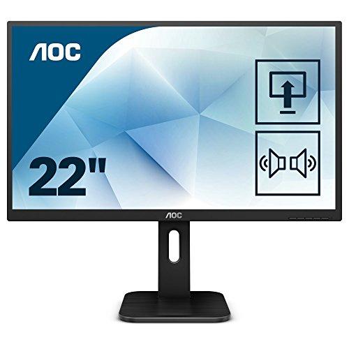 AOC 22P1 54 cm (21,5 Zoll) Monitor (DVI, HDMI, USB Hub, MVA Panel, Displayport, Pivot, 5ms Reaktionszeit, 1920 x 1080) schwarz