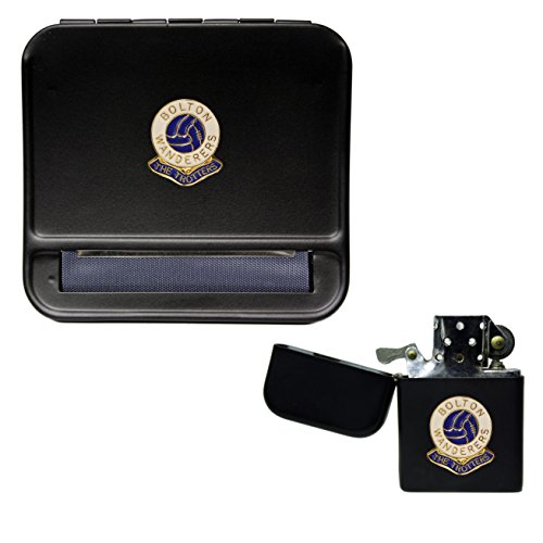 Bolton Wanderers Football Club Cigarette Rolling Machine and storproof Petrol Lighter
