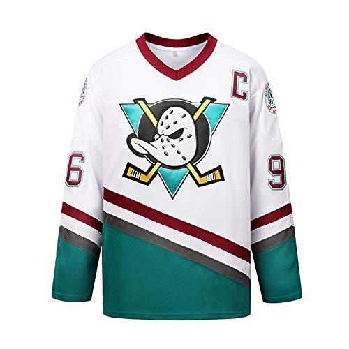 OMRIHAN Filmversion Conway Mighty Ducks Eishockeytrikot,Genähte Buchstaben und Zahlen,Herren-Sweatshirts Atmungsaktives Langarm-T-Shirt,Hip-Hop-Kleidung,Party-Sweatshirt (S-XXXL)