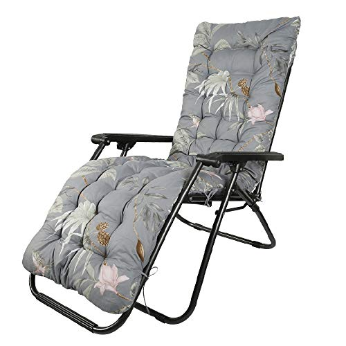 Auflagen für Gartenliegen Gartenstuhlauflage Polster für Relaxstühle Auflage Sonnenliege Anti-Rutsch-Design Hochlehner Liegenauflagen Relaxliege Sitzkissen Waschbar für Gartenstühle 170x53x7cm (D)