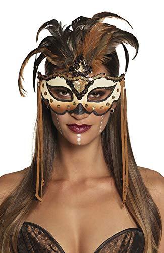 Boland Maschera per Gli Occhi Voodoo Mamba, Colore Marrone, Taglia Unica, 72195