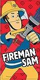 Fireman Serviette de Plage ou Drap de Bain Sam Le Pompier