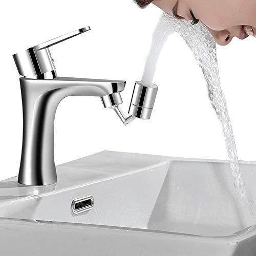 Universal-Spritzfilter-Wasserhahn 720 ° Wasserauslasshahn drehen - 4-lagiger Netzfilter, auslaufsicheres Design mit sauerstoffangereichertem Doppel-O-Ring-Schaum