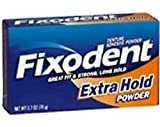 Fixodent Denture Adhesive Powder Extra Hold - 1.6 oz, Pack of 2