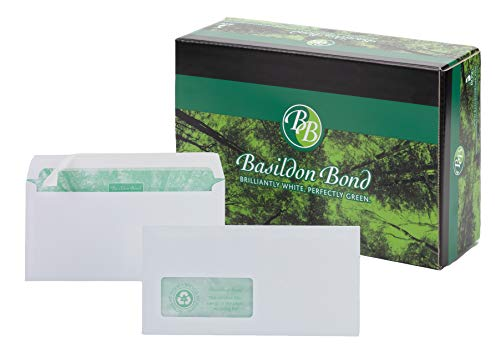 Basildon Bond Peel - Paquete de 500 sobres para uso general, blanco