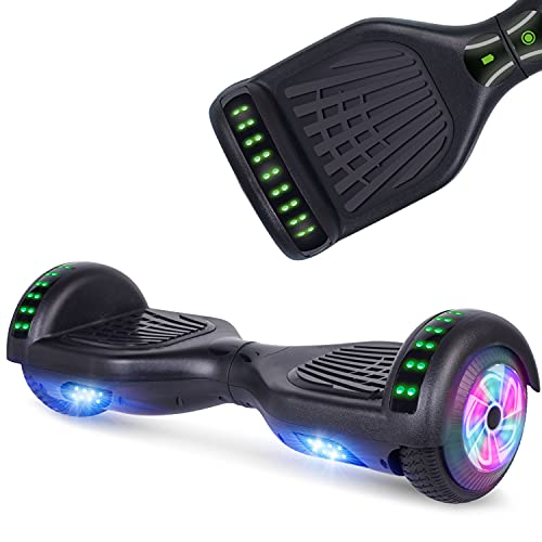 UNI-SUN Hoverboard for Kids, Learn to Ride in 5 Minutes, Kids Train Balance, Gifts for Boys and Girls, 6.5 Inch Two Wheels Hoverboard with Bluetooth and Light