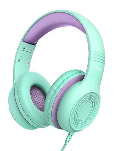 Mpow CH6 Auriculares para Niños con Micrófono, 85dB/94dB Volumen Limitado, Material Seguro, Cómoda, Ajustable, Plegable, Cable de Audio 3.5 mm, Auriculares de Diadema para El Hogar o al Aire Libre