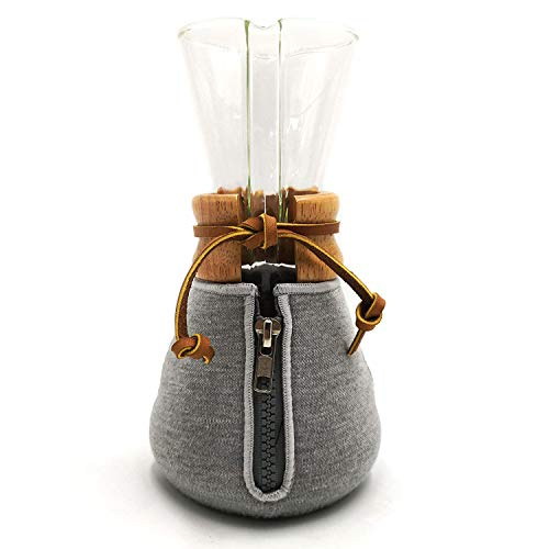 HEXNUB – Cozy Cover, Compatible with Chemex Coffee Makers, 3 Cup, Keeps Coffee Hot, Fits Collar and Handle Carafes, Ideal for Pour Over Coffee Brewing