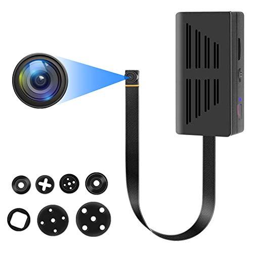 Mini cámara de vigilancia Full HD 1080P Mini cámara de vigilancia portátil pequeña con detección de movimiento y grabación de vídeo, larga duración de la batería para interior y exterior Nanny Cam