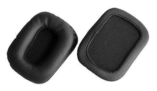 Ersatz-Ohrpolster für Mad Catz Tritton Kama Stereo-Gaming-Headset, Schwarz (Ohrenschützer/Kissen) (1 Paar)75x55mm