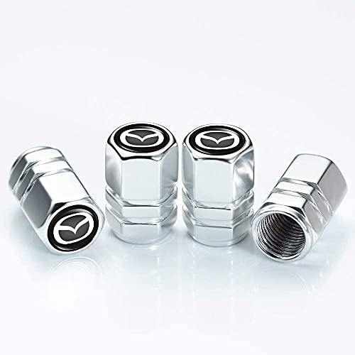 4 Piezas Metal Válvula De Neumático De Automóvil para Mazda Cx7 Cx5 Cx9 Cx-5 Cx3 Mx-5, Ruedas Cubierta de Polvo Tapas, Aire de vástago de neumático Cubiertas herméticas