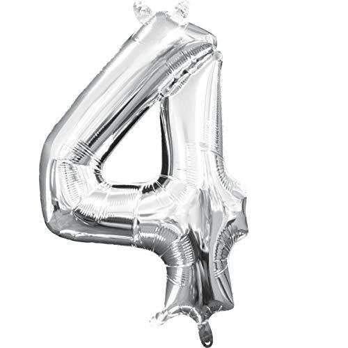 amscan 3308201 Mini Ballon en Aluminium Motif Chiffre 4 40,6 cm