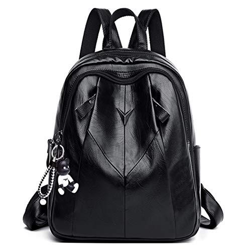 BUKESIYI Damen Rucksackhandtaschen Elegant Anti Diebstahl Frau Damenhandtaschen Stadtrucksack Henkeltaschen YADE78103 Schwarz