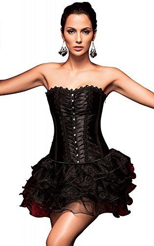 less is more sexy korset zwart met strass carnaval kostuum Burlesque Pinup corsage