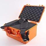 357 * 269 * 187mm Sellado de seguridad de protección cuadro de herramientas a prueba de agua Equipo de instrumentos caja a prueba de golpes Esponja caja de plástico al aire libre (Color : Orange)