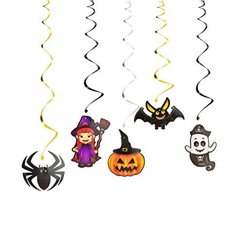 Amosfun 15pcs Halloween hängende Strudelausläufer-Partei liefert Bevorzugungen