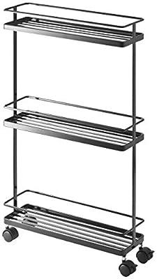 Yamazaki Home Tower Rolling Kitchen Storage Cart – Portable Organizer Shelves from YAMAZAKI home