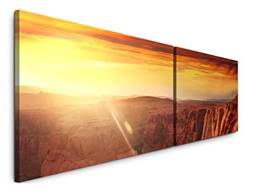Paul Sinus Art Serre de Rocher dans l'eau 180 x 50 cm – 2 Photos murales de 50 x 90 cm – Impression Artistique – Toile montée sur Cadre