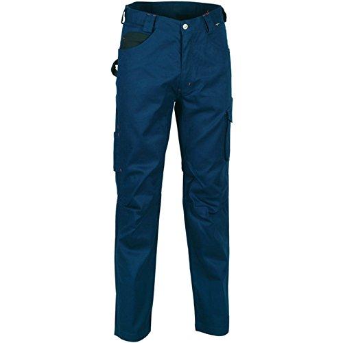 Cofra V061–0de 02.z46Pantalones de trabajo Drill, color azul marino/negro, 46
