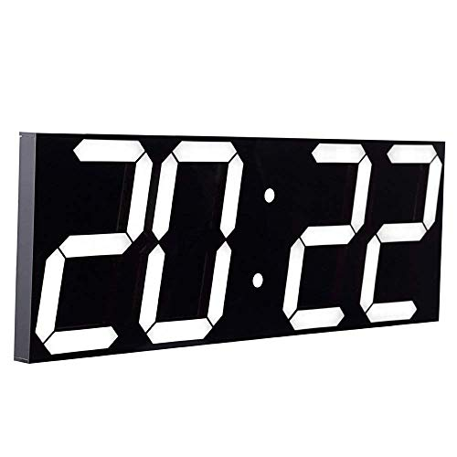 CHKOSDA Wanduhr mit Countdown-Funktion, 6 Zoll LED Digital, Automatische Helligkeitsanpassung, Fernbedienung, Groß Kalender für Zuhause, Schlafzimmer, Büro(Weiß)