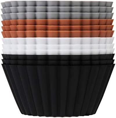 SARTNP Silicone Cupcake Baking Cups 12 Pack Reusable Jumbo Size Heavy Duty Cupcake Liners Muffins product image